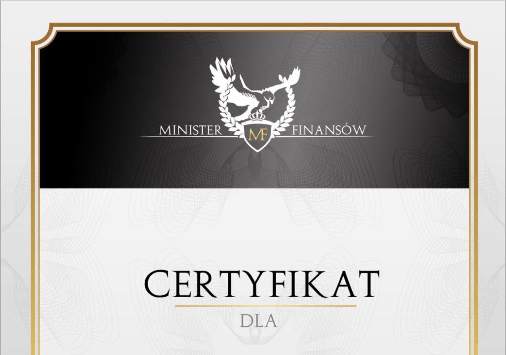 certyfikat firma godna zaufania rzetelna firma
